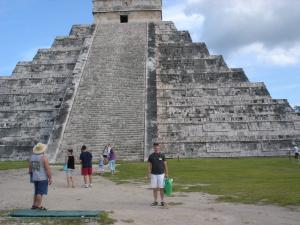 Bob Phibbs at the Pyramid of Kukulkan, Yucatan, Mexico