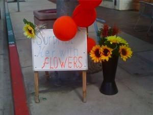 retail signage example florist