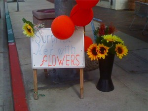 retail signage example florist
