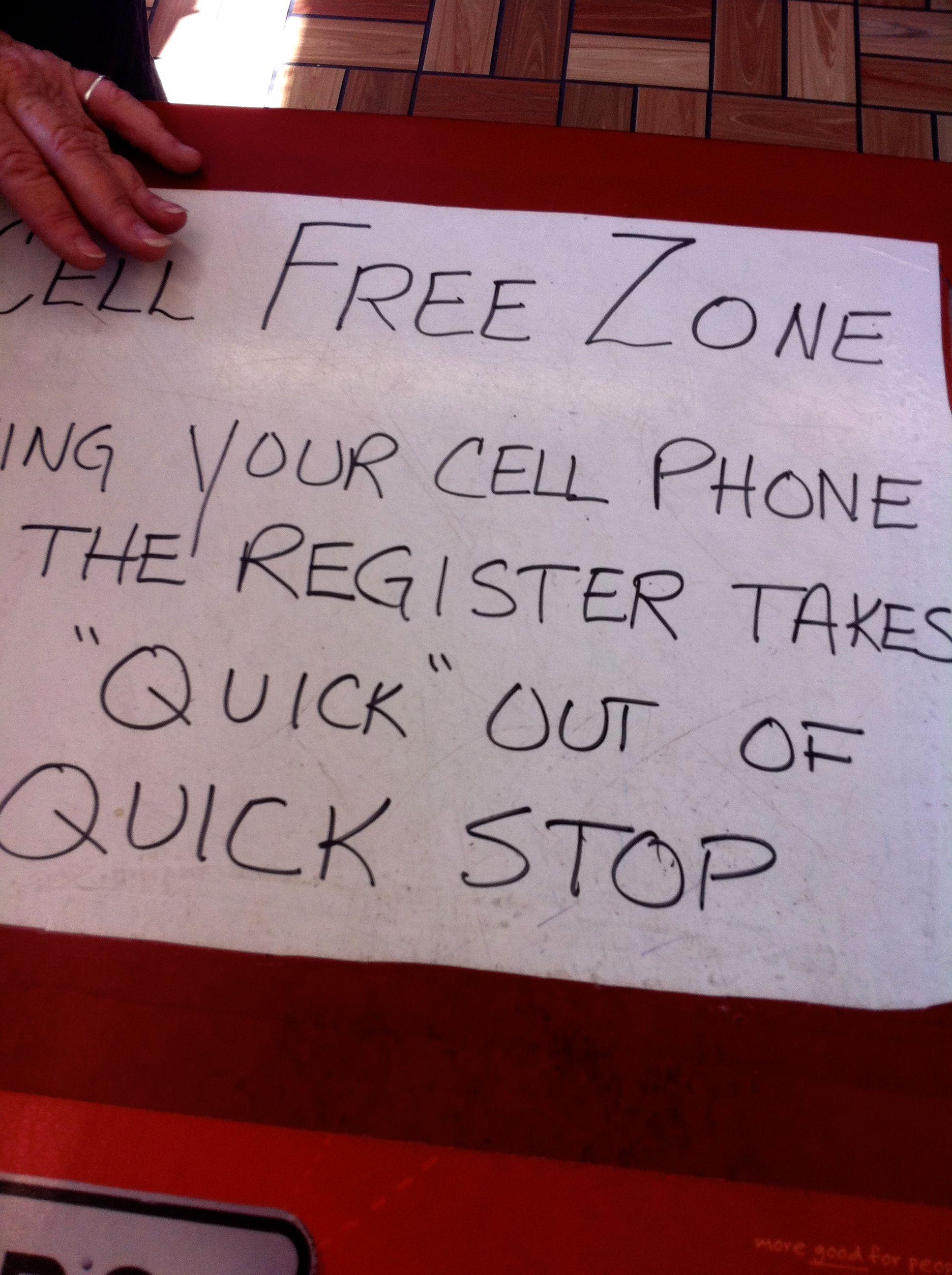 cellphone signage retail