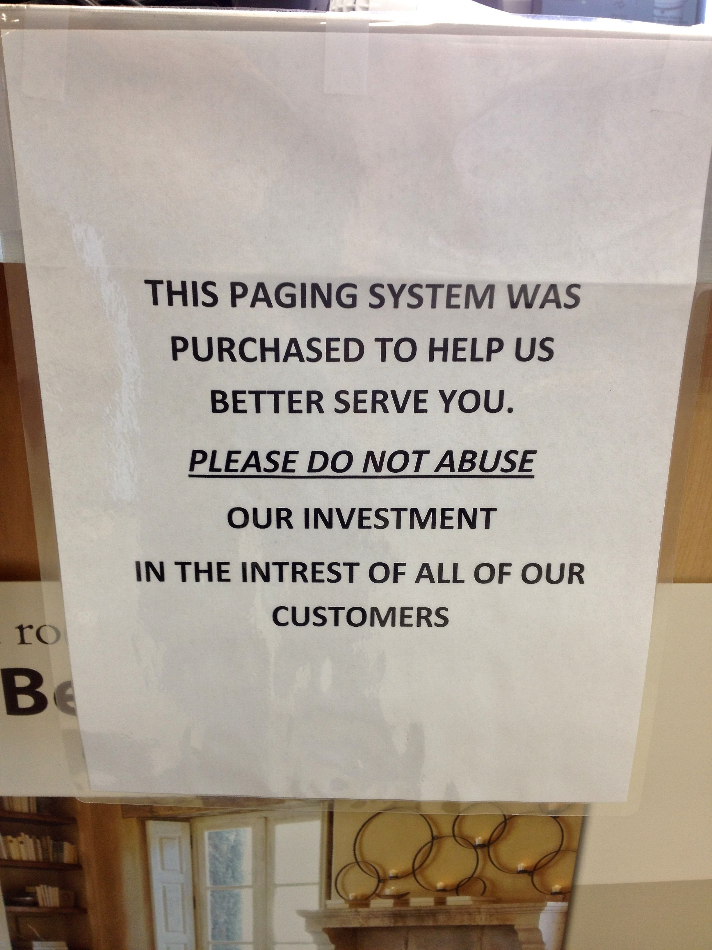 how not to sign in a store