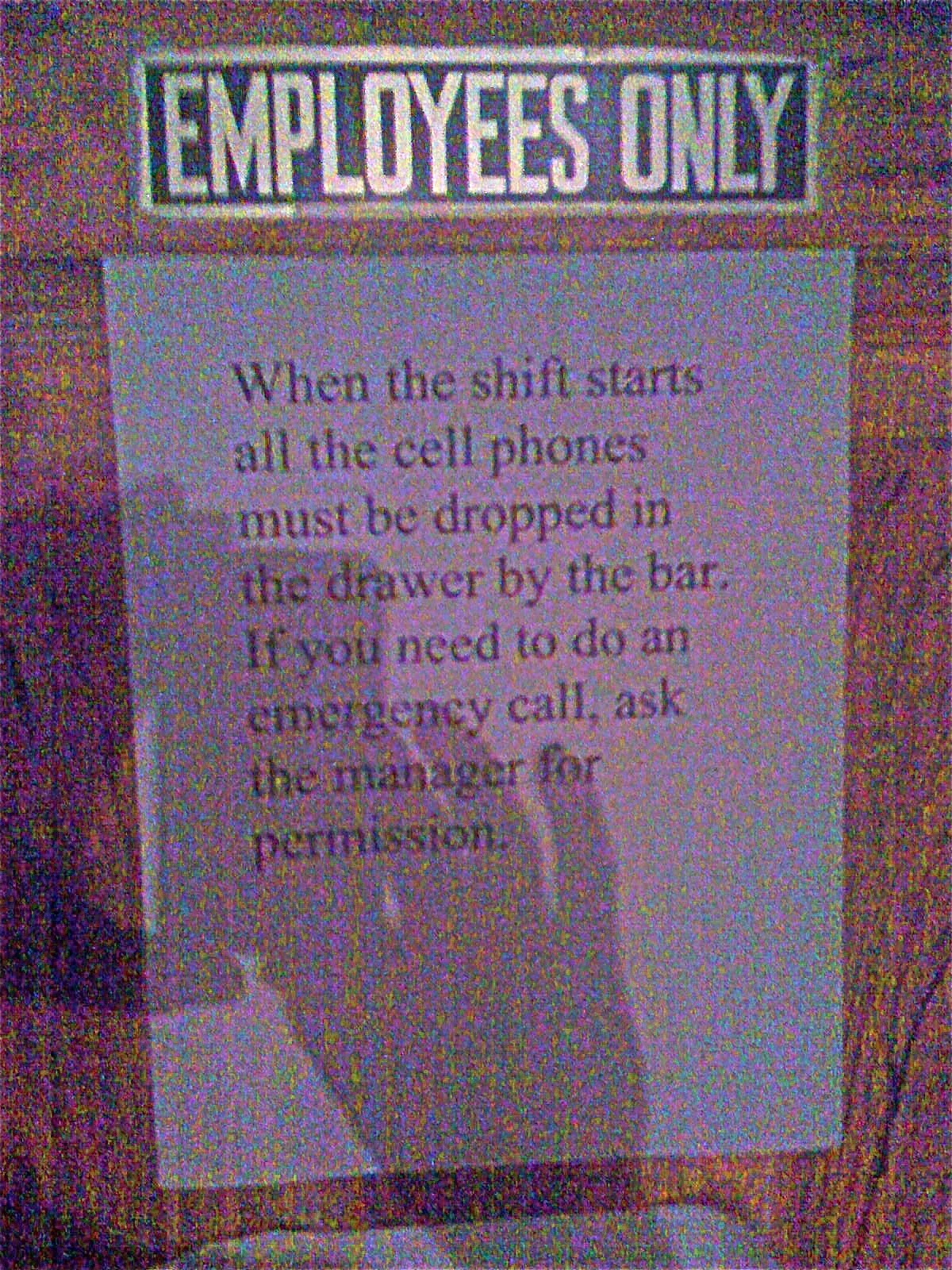 signs for retail employees