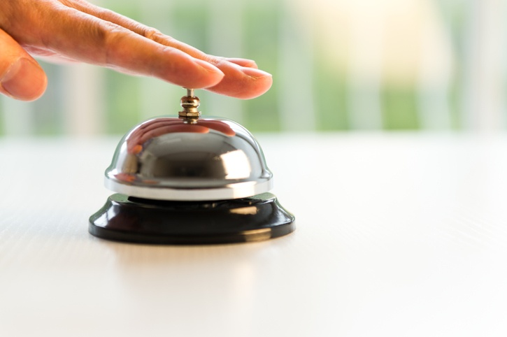 hotel customer service bell