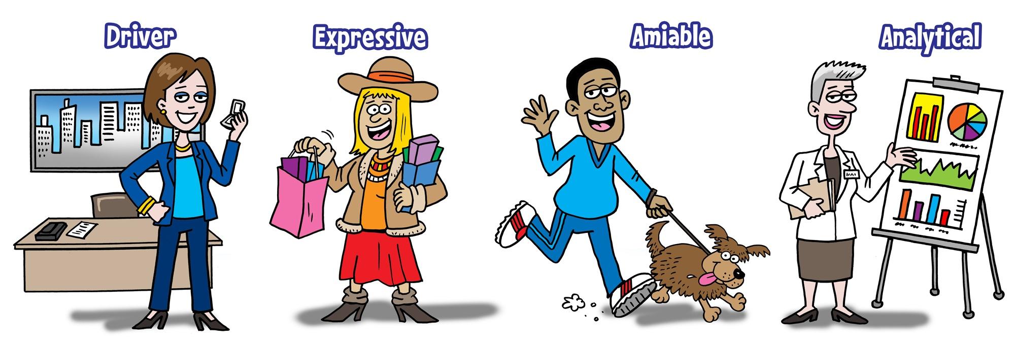4-personality-styles-cartoon