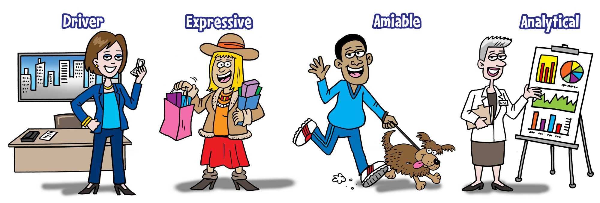 4-personality-styles-cartoon
