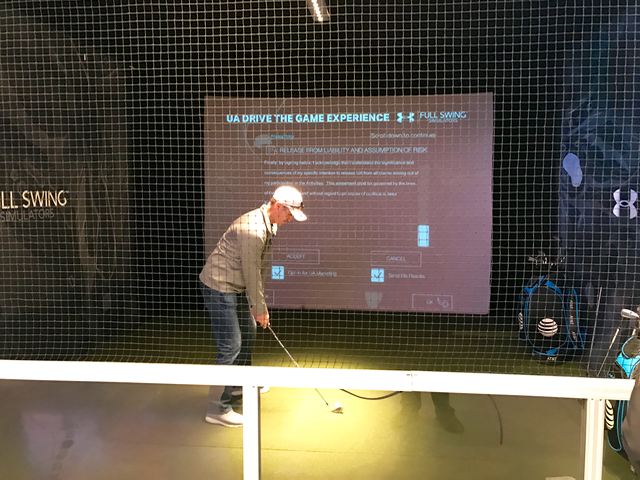 golf in retail store