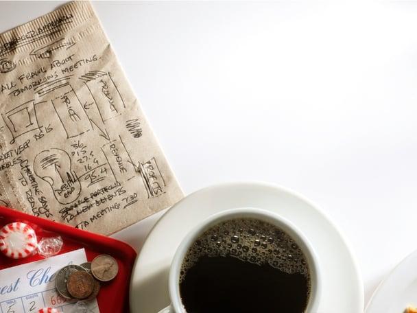 marketing plan on a napkin