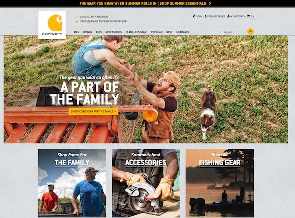 carhart website example