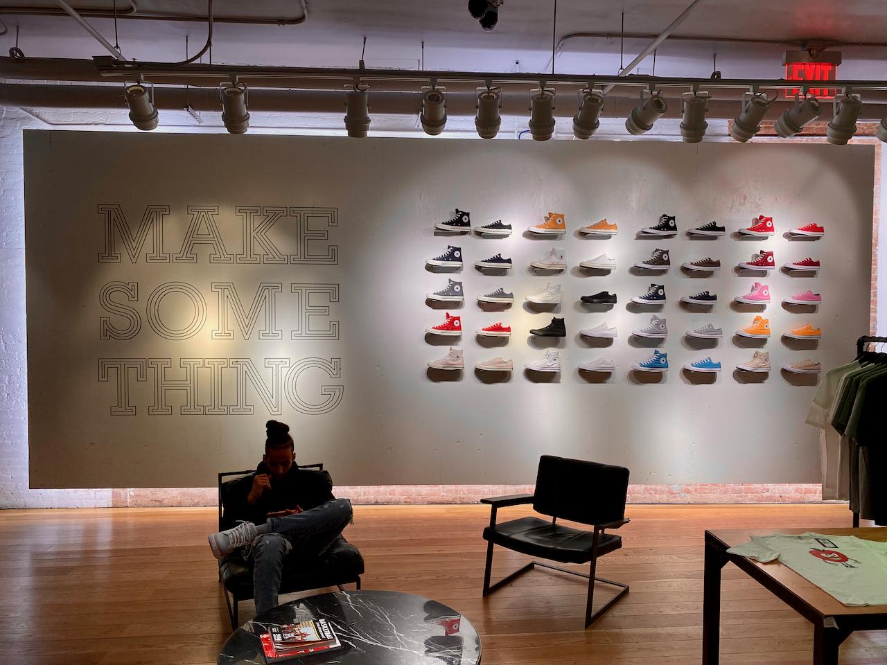 Converse SoHo shoe display