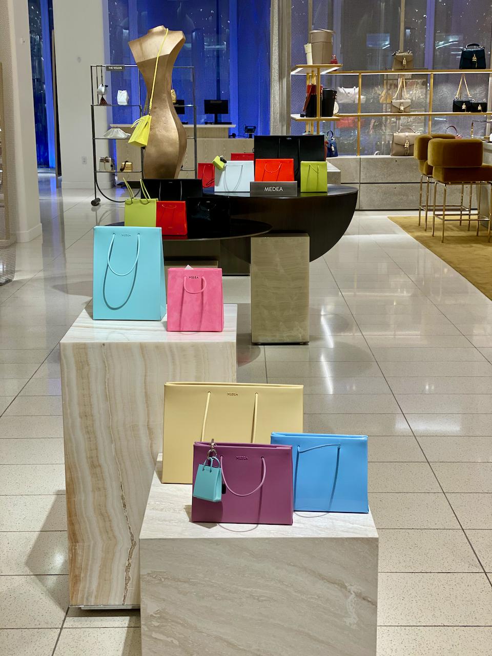 Medea handbags at Nordstrom display