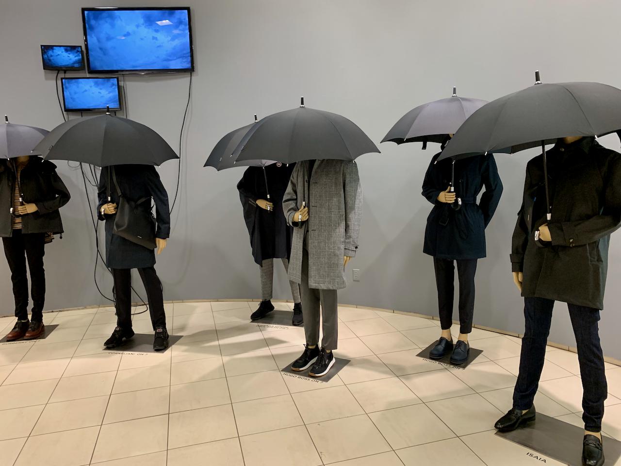 Saks Fifth Avenue raincoat display