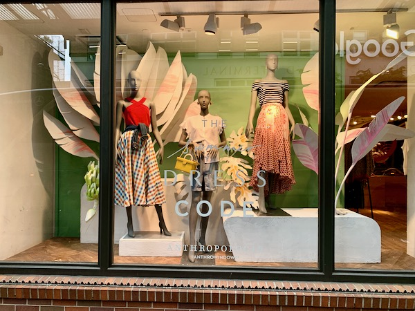 Anthropologie display window new York city