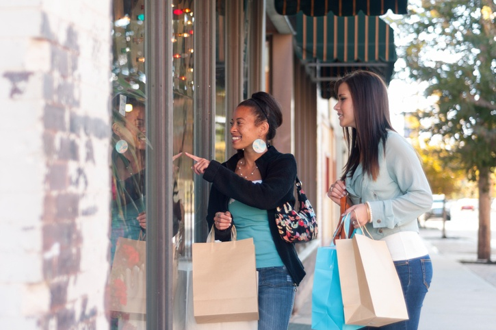 downtown retail shopping