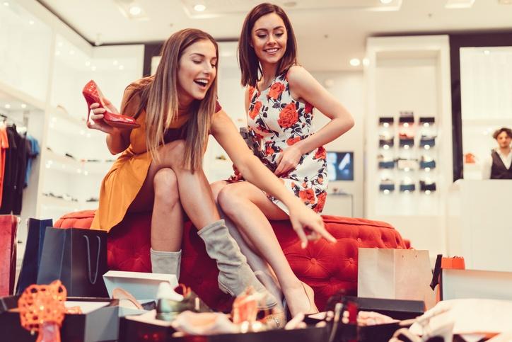 shoe shopping retail