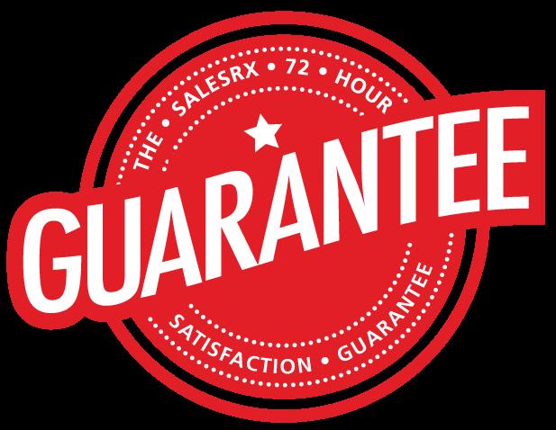 The SaleRX 72 hour satisfaction guarantee